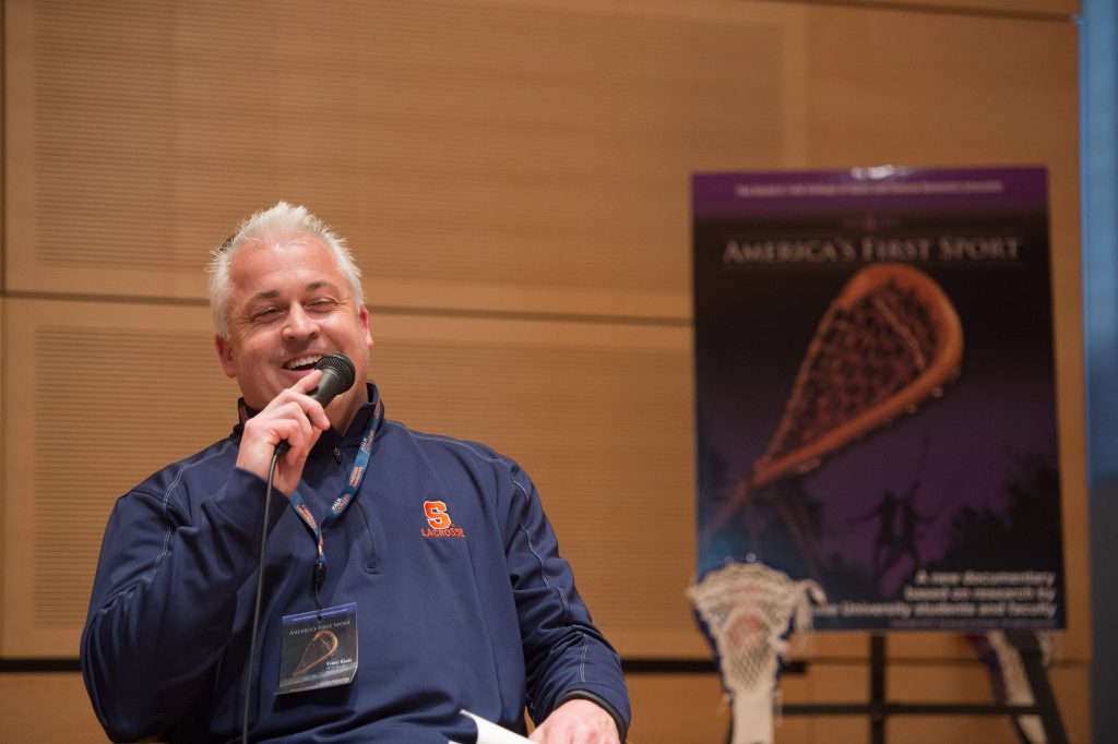 Newly appointed SU men's lacrosse head coach Gary Gait, shown here at the 2013 film premiere of