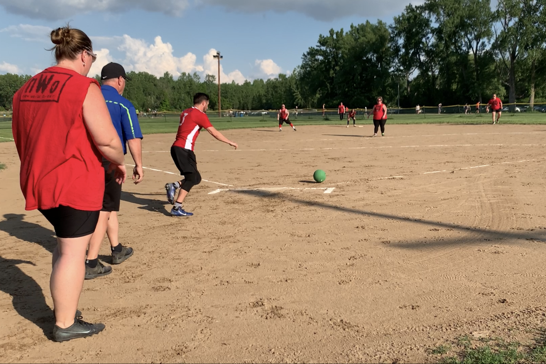 The Syracuse Sports Association started as a kickball league and the sport remains the league's most popular attraction. Teams meet on four fields in Liverpool, New York, in the spring, summer and fall.