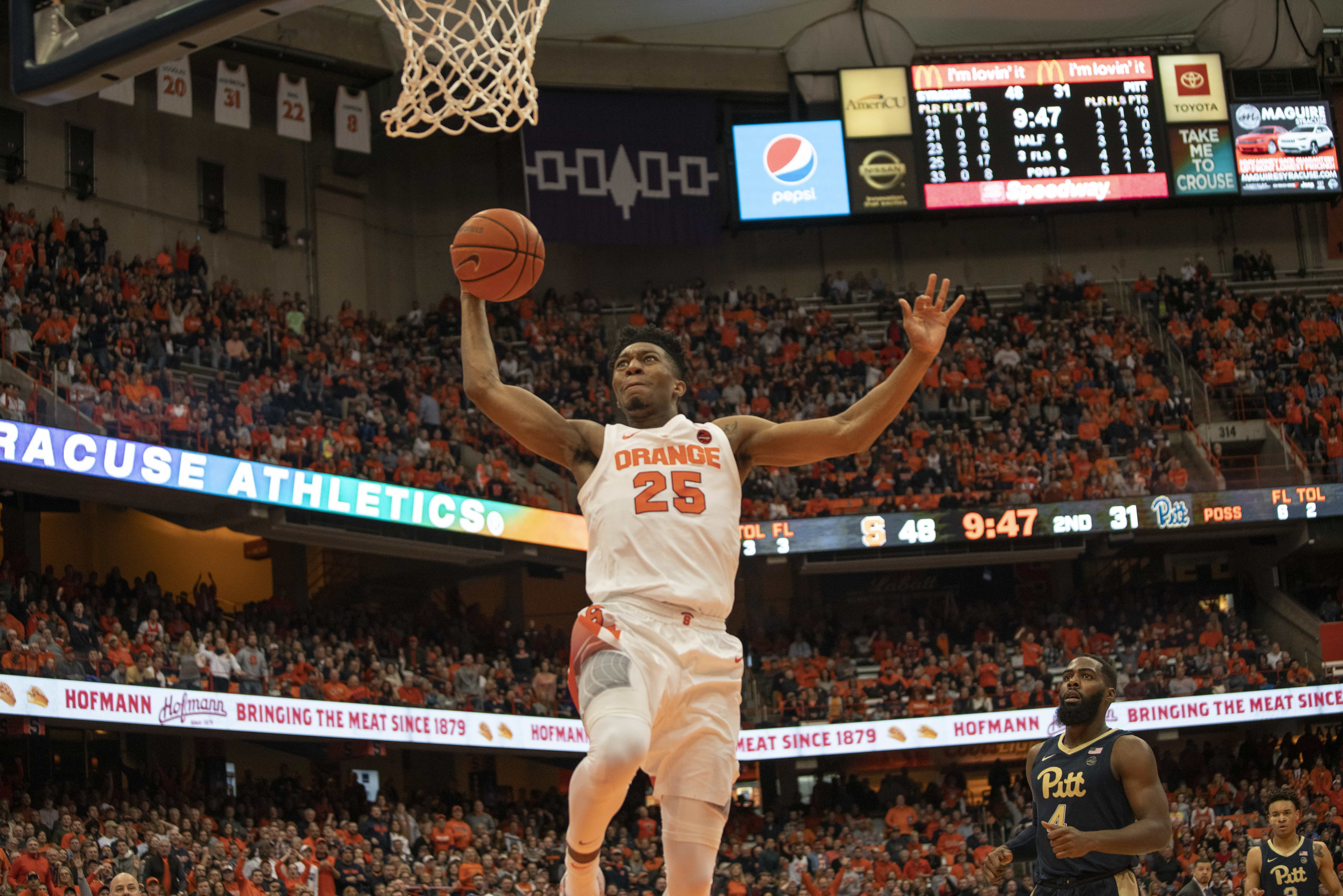 Tyus Battle goes for a dunk vs. Pittsburgh