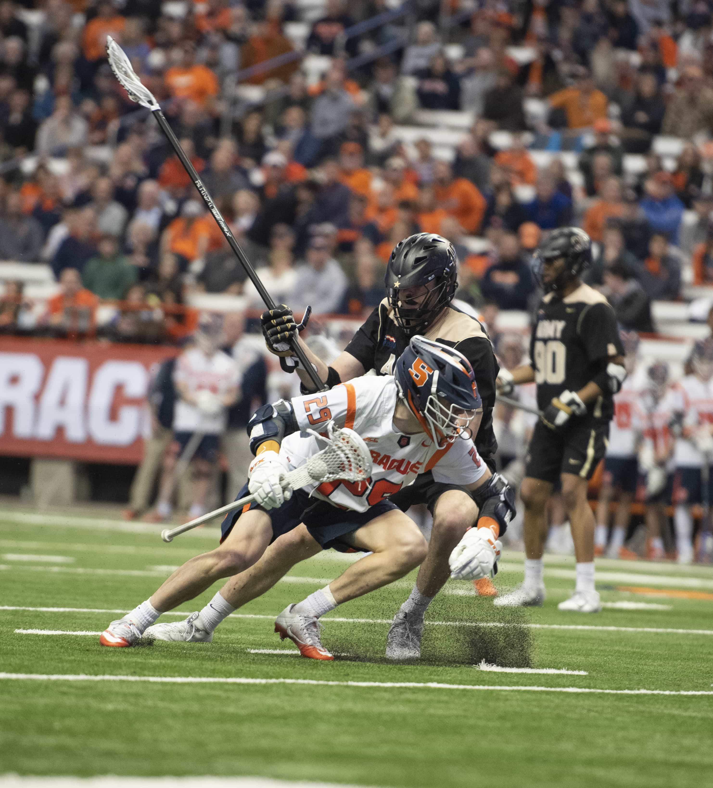 Junior Stephen Rehfuss maneuvers around a defender.