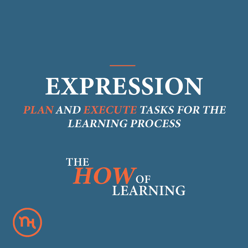 Expression; PLAN AND EXECUTE TASKS FOR THE LEARNING PROCESS; The how of learning