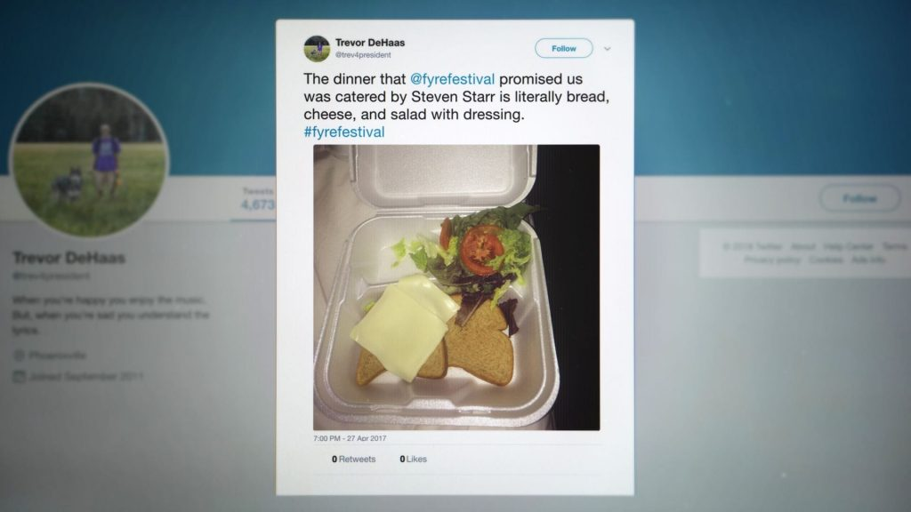 The tweet that destroyed the Fyre Festival
