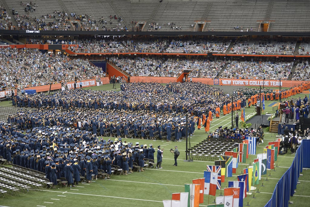2015 SU Commencement in the Carrier Dome