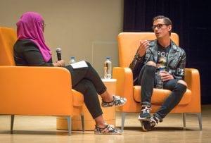 'Queer Eye's' Antoni Porowski talks at Syracuse University on Oct. 20, 2018