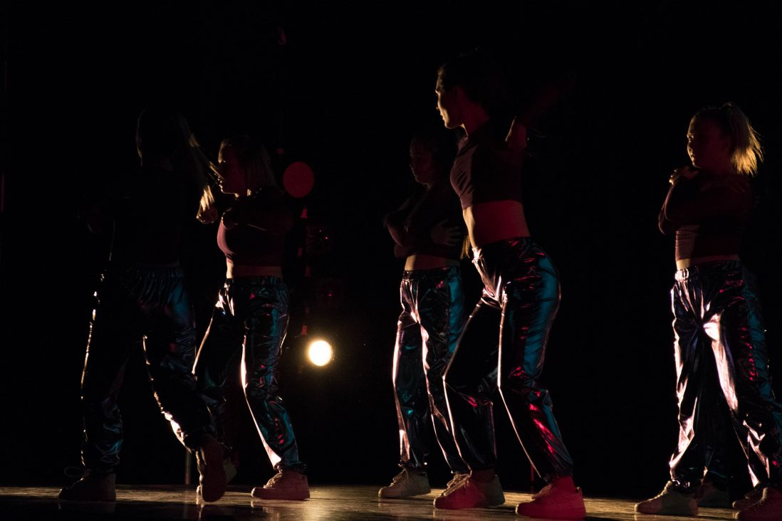 Student dancer Jane Schutte choreographed this dance titled,