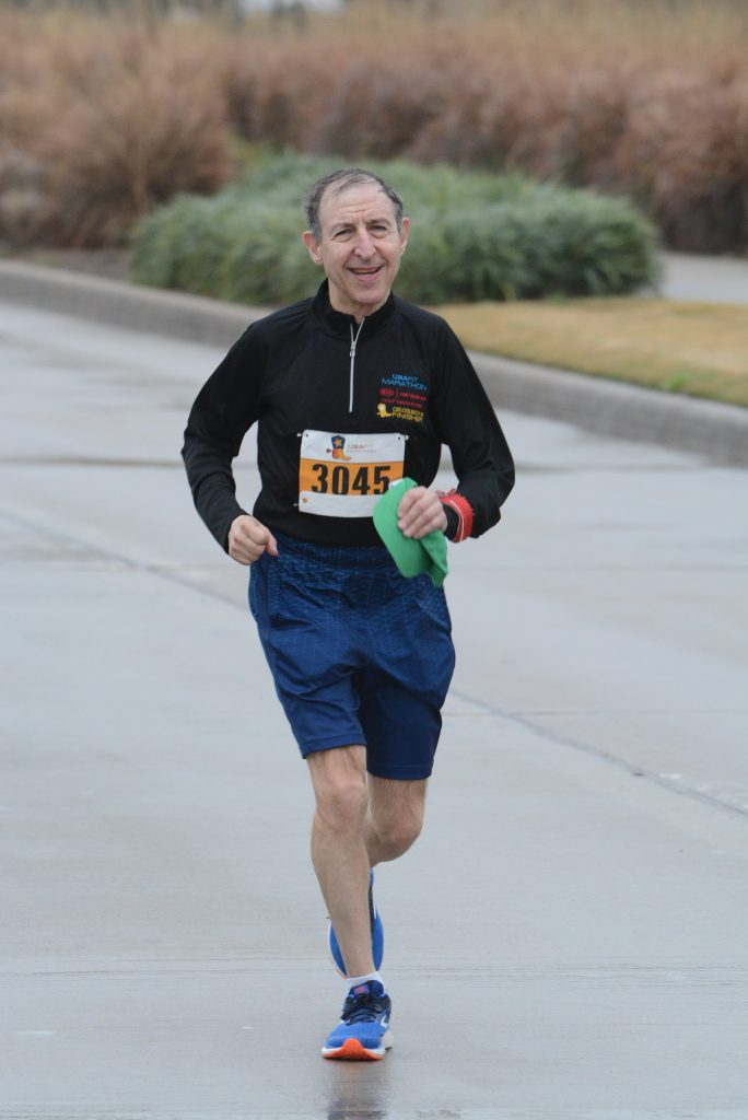 Cliff Davidson running the Texas Marathon in Feb 2019