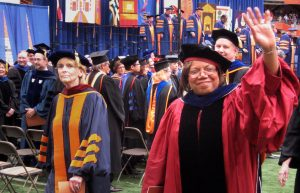 Newhouse dean Lorraine Branham at Syracuse University's 2010 Commencement