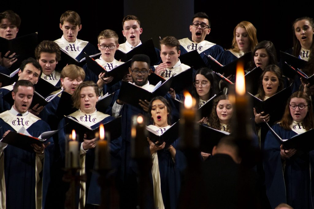 The Hendricks Chapel choir performs Sunday evening at the annual Holidays at Hendricks concert.