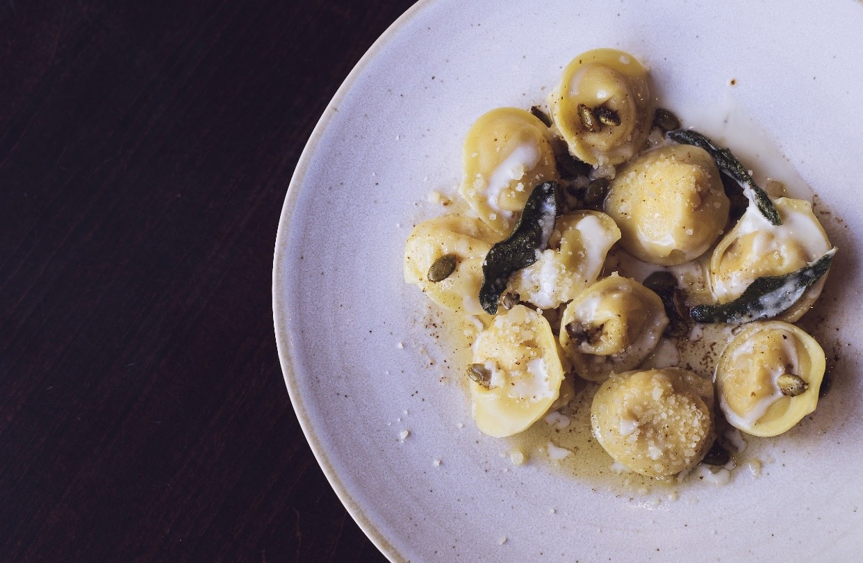 a mano's serves homemade pasta, a staple to their Italian roots.