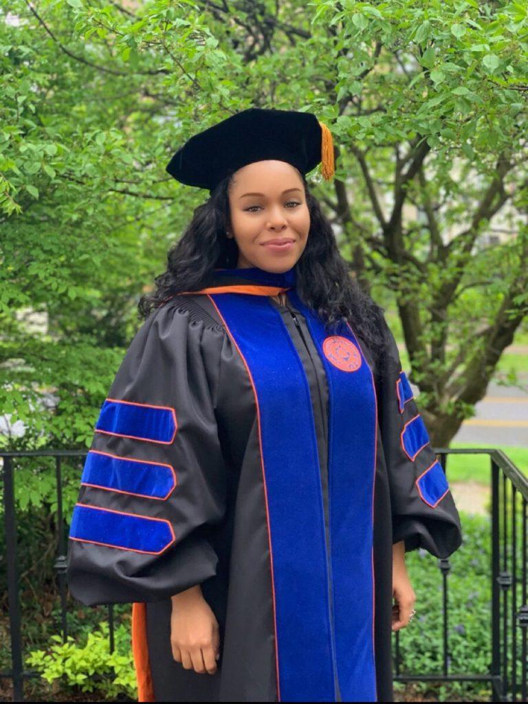 Dr. Kishauna Soljour, at her May 2019 graduation.