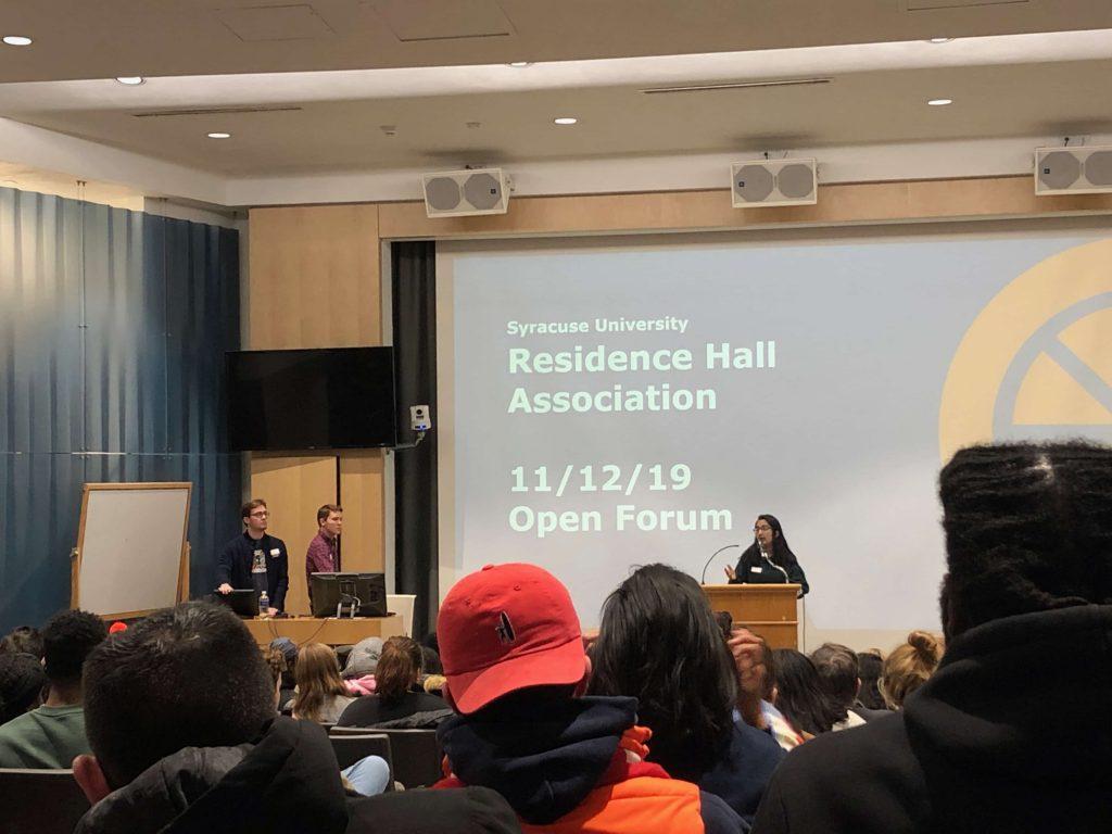 Residence Hall Association Open forum on Nov. 12, 2019