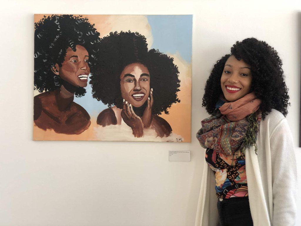 SU student displays work at Folk Art Center