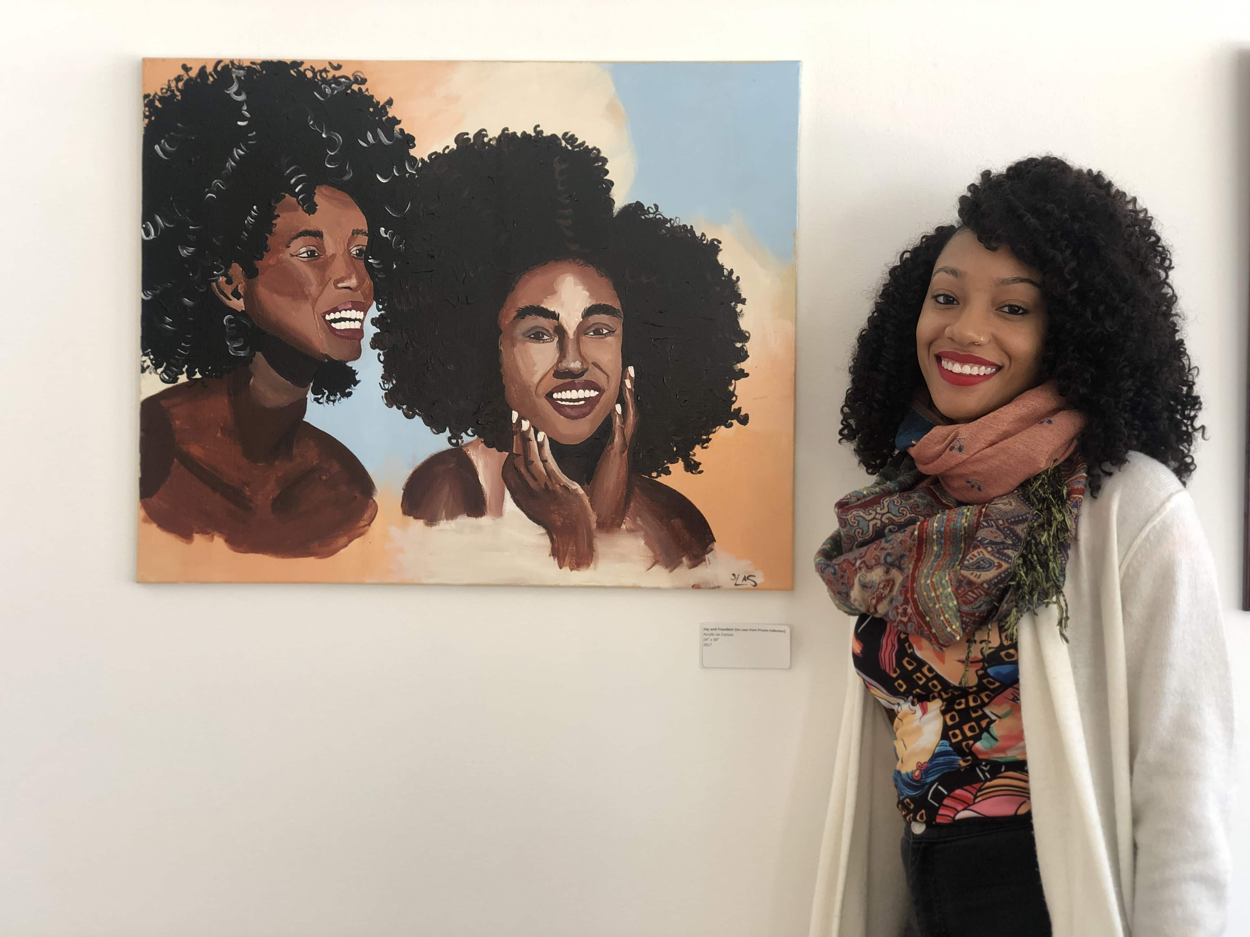 SU student displays work at Folk Art Center