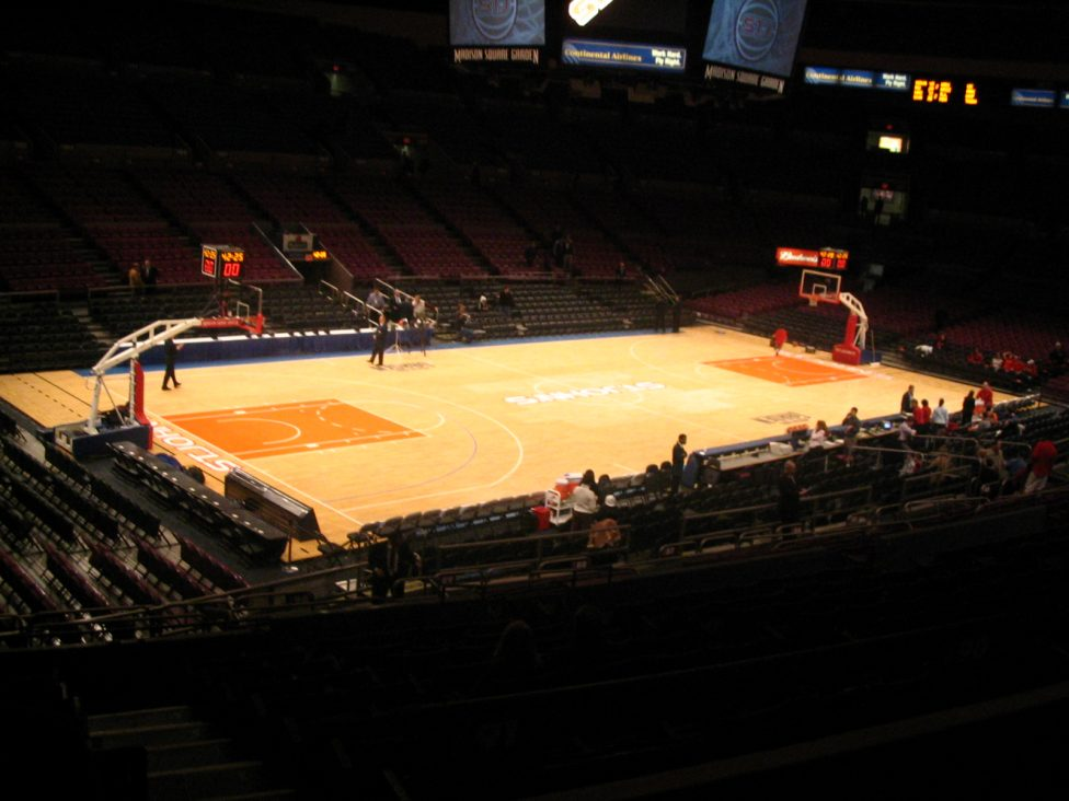 Madison. Square Garden empty basketball court
