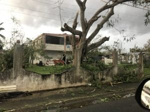 Hurricane Maria damage in Puerto Rico in September 2018