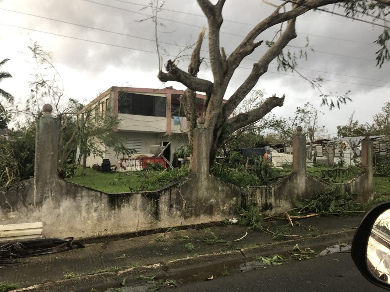 Hurricane Maria damage in Puerto Rico in September 2018