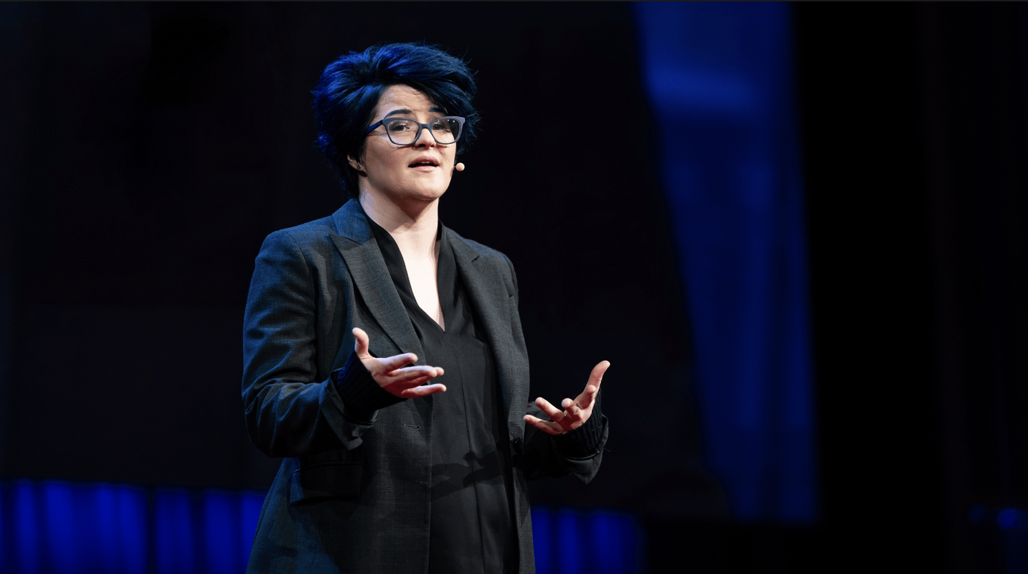 """Emily Nagoski speaks at TED 2018 lecture """"The truth about unwanted arousal."""""""