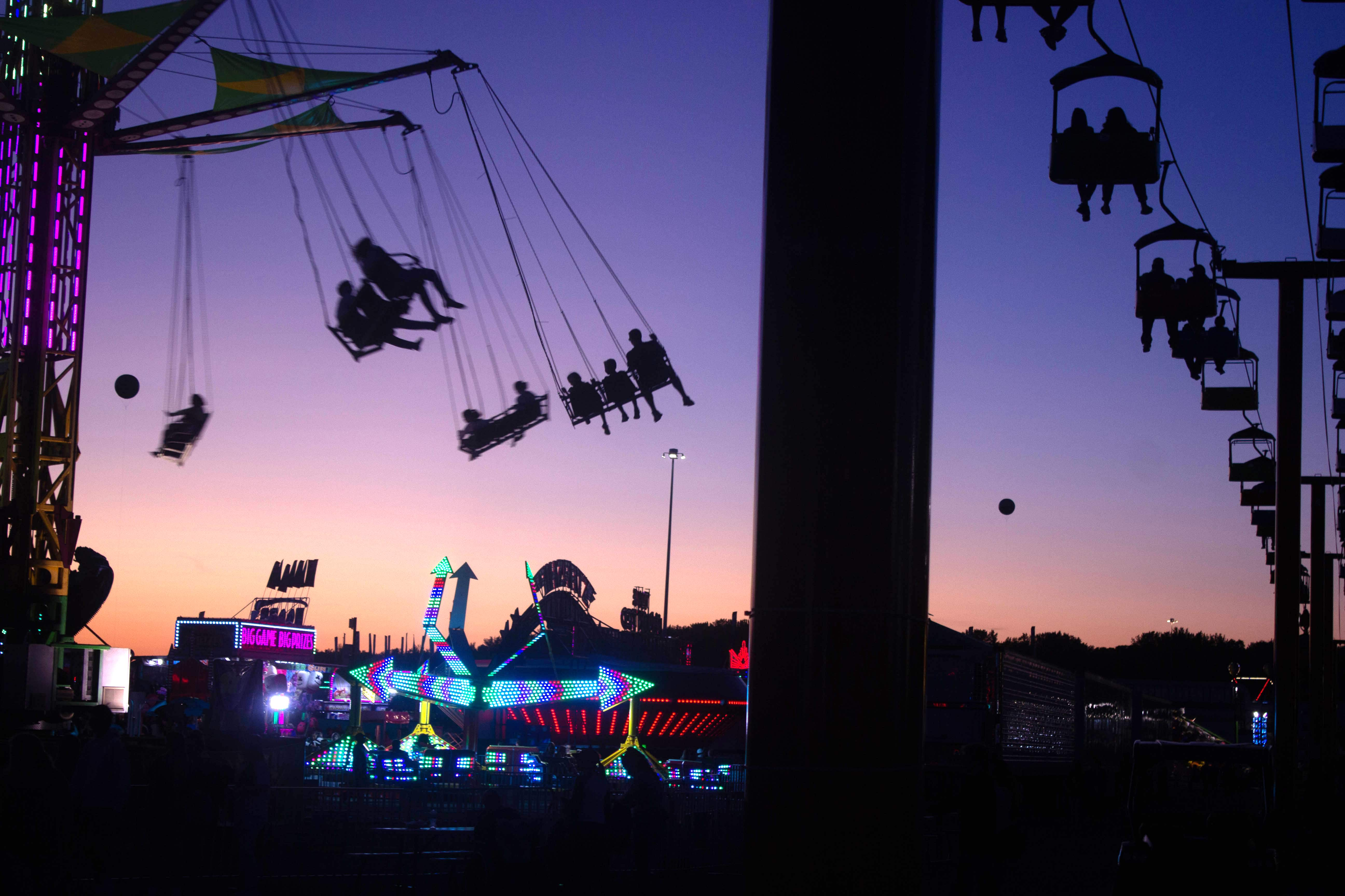 The New York State Fair midway came to life as the sun set on another day.
