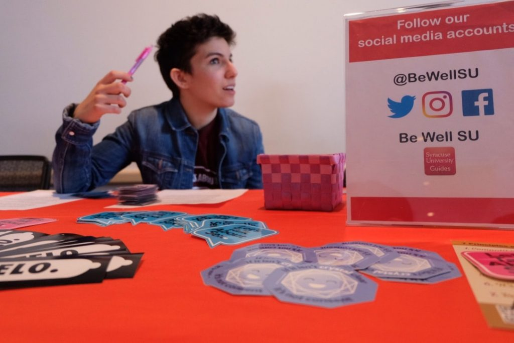 Be Well SU educates students about safe sex and sex positivity.