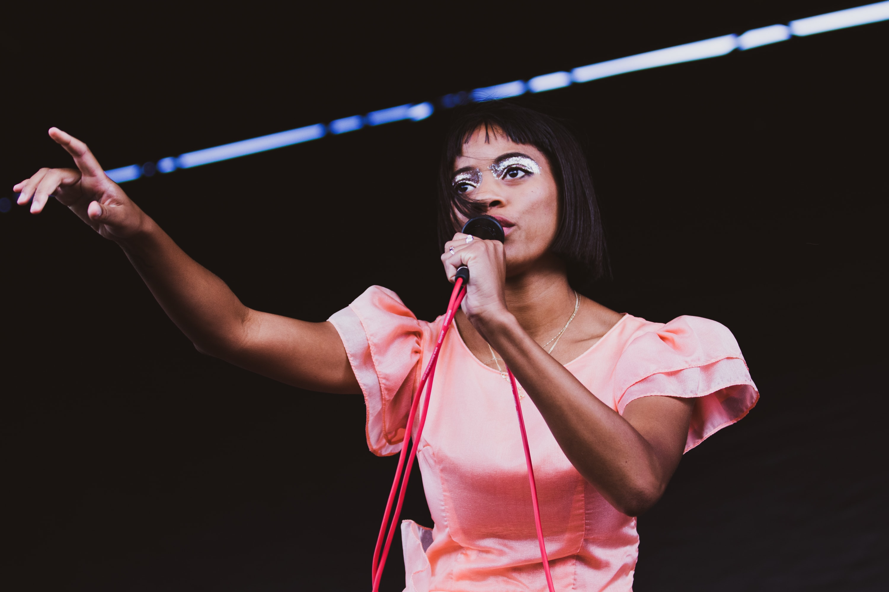 Kilo Kish performs at the annual fall Juice Jam at Skytop Field on Sept. 9, 2019.