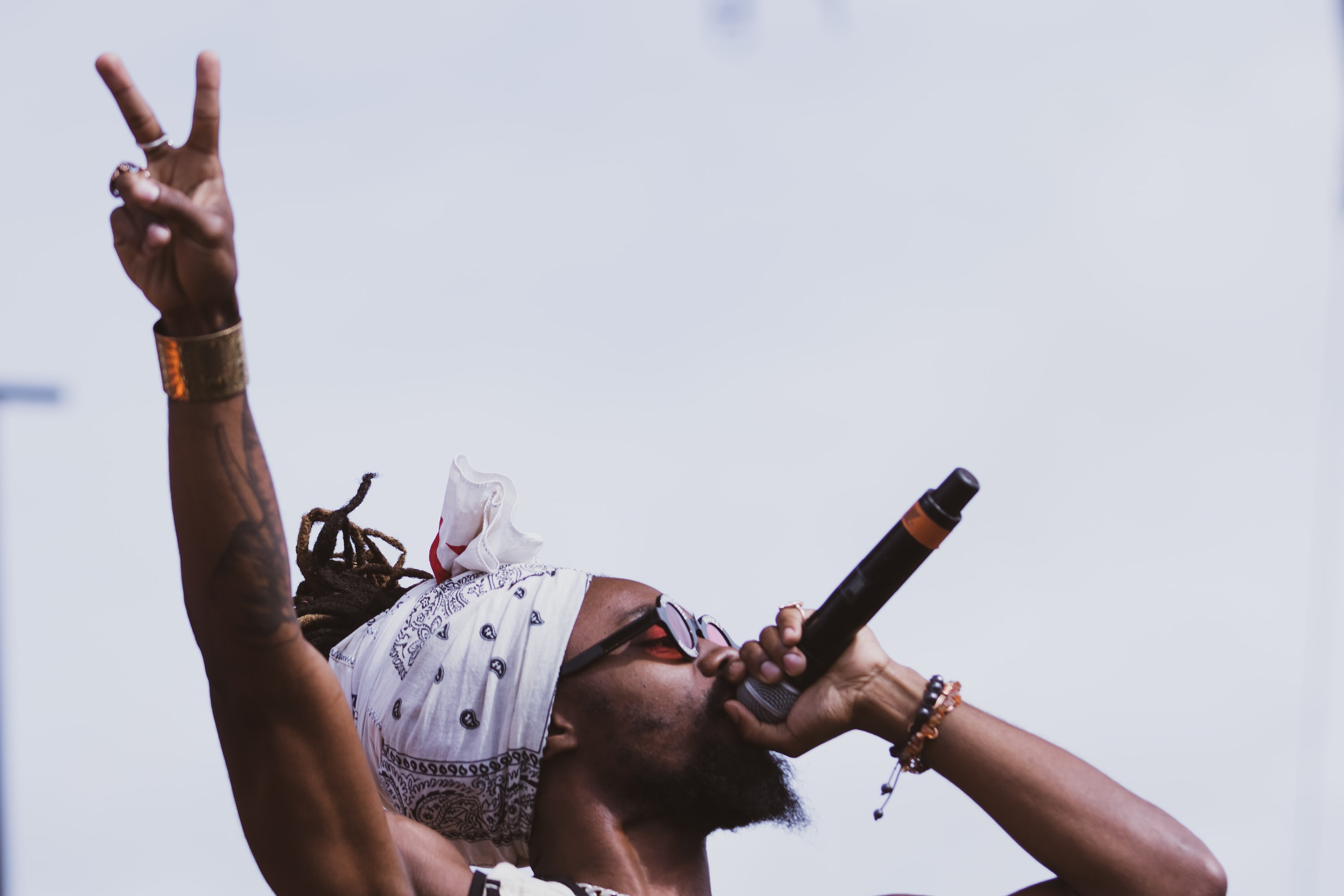 Johnny Venus of EarthGang performs at the annual fall Juice Jam at Skytop Field on Sunday.
