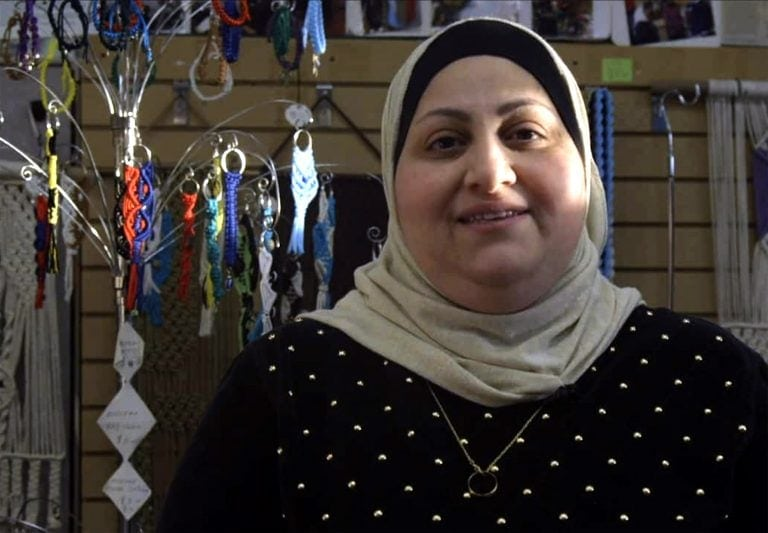 Nadeen Yousef shares her story of leaving Iraq to create a better life for her family in the United States as she now is the owner of her own macrame shop in Buffalo's West Side Bazaar.