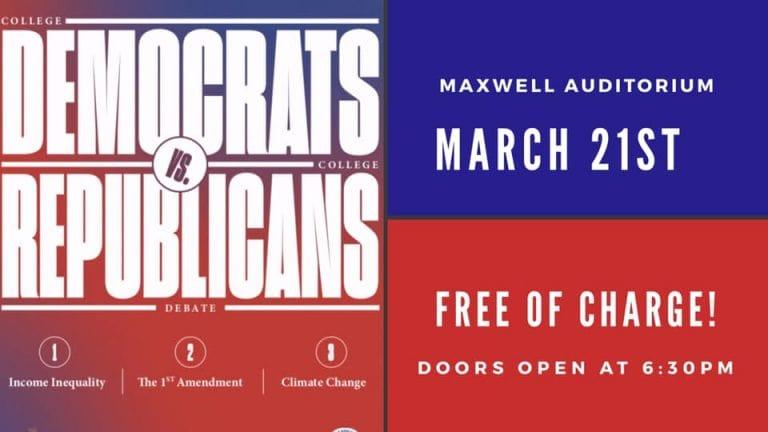 SU College Democrats and Republicans Host Debate