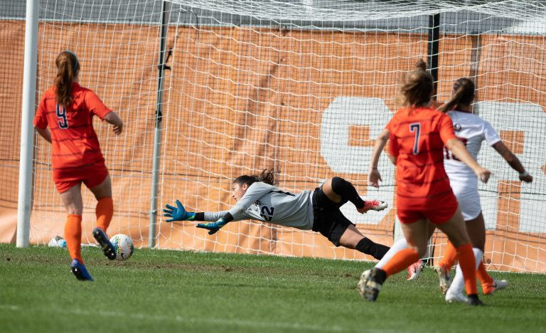 The lone goal of the afternoon scored by FSU's Deyna Castellanos (10) during the Sept 29 game vs FSU.