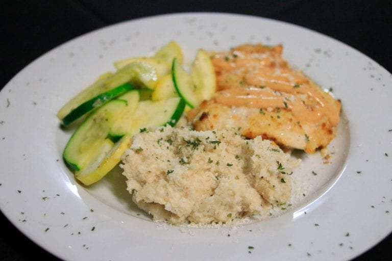 The Cauliflower Crusted Salmon is one of the many dishes included on Dolce Vita's keto menu.