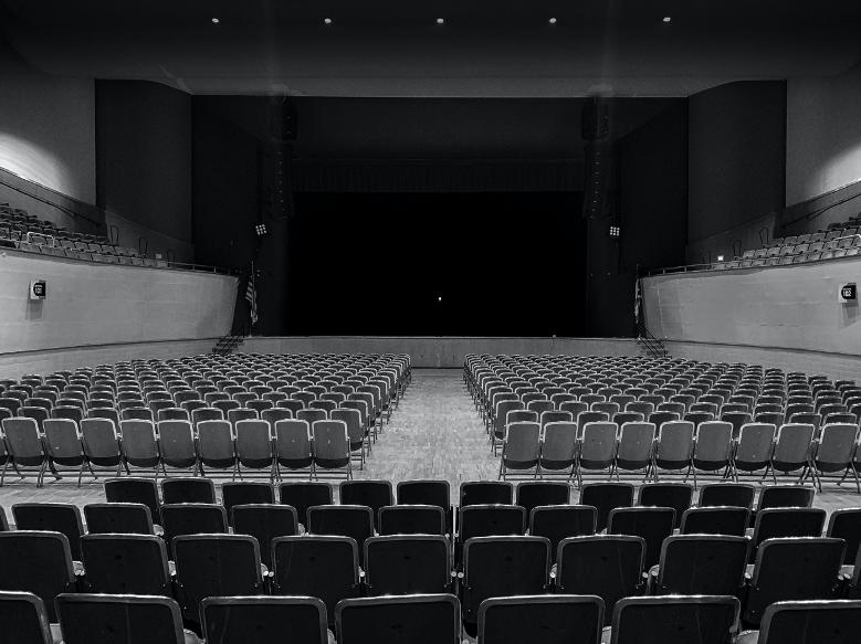 Packard Music Hall empty due to coronavirus pandemic.