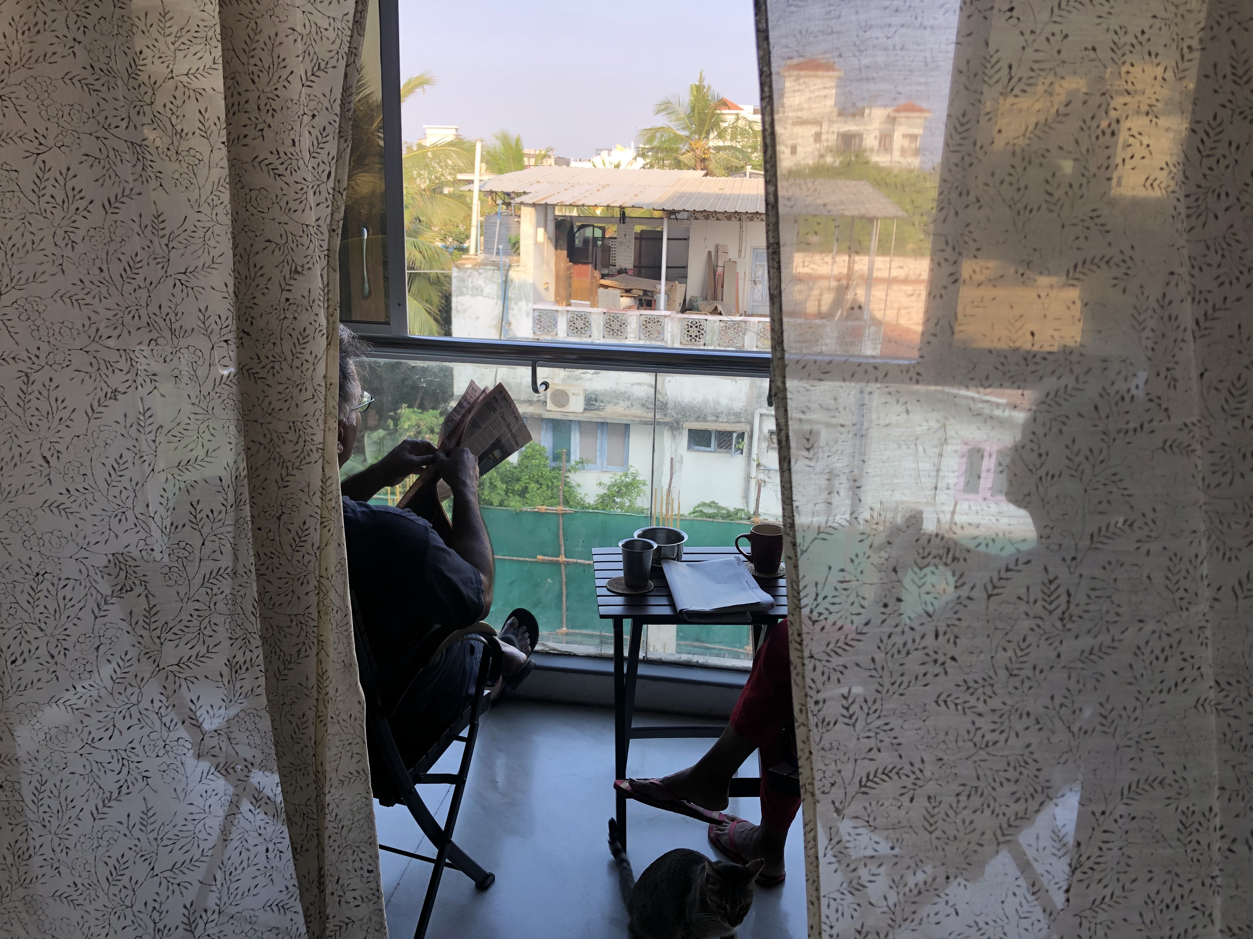 A view from Shrishti Mathew's balcony in India.
