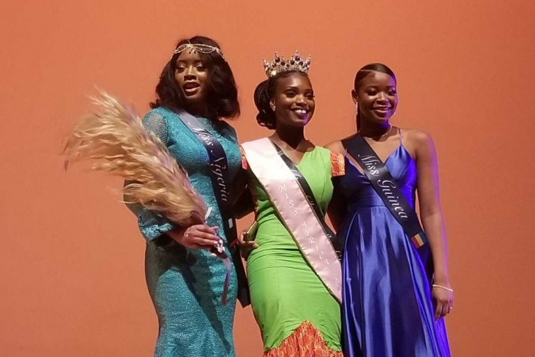 The winning contestants of the Miss Africa Pageant at Goldstein Auditorium on Feb. 22, 2020