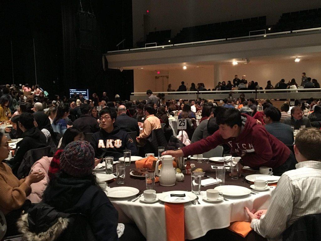 Syracuse University's 34th International Thanksgiving Dinner on Nov. 15, 2018, in Goldstein Auditorium.