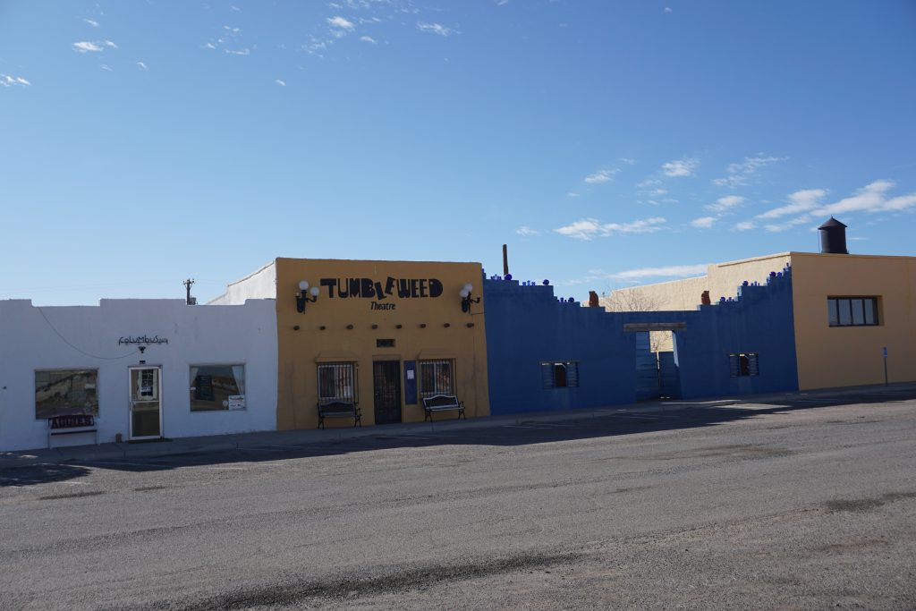 The dusty shops along Broadway in downtown Columbus, New Mexico