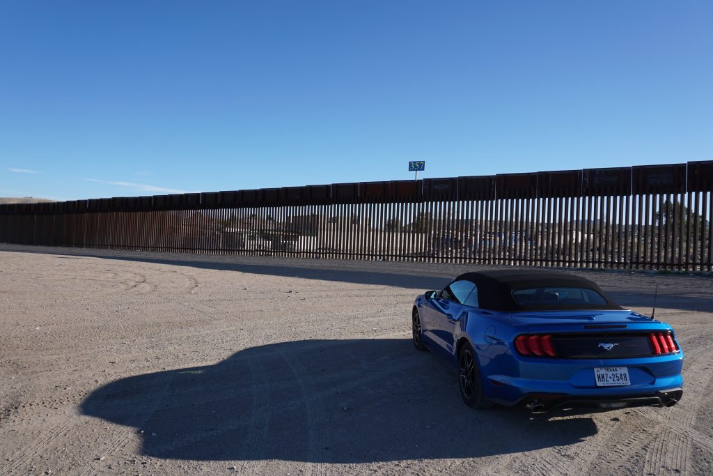 The U.S.-Mexico border wall near El Paso, Texas.