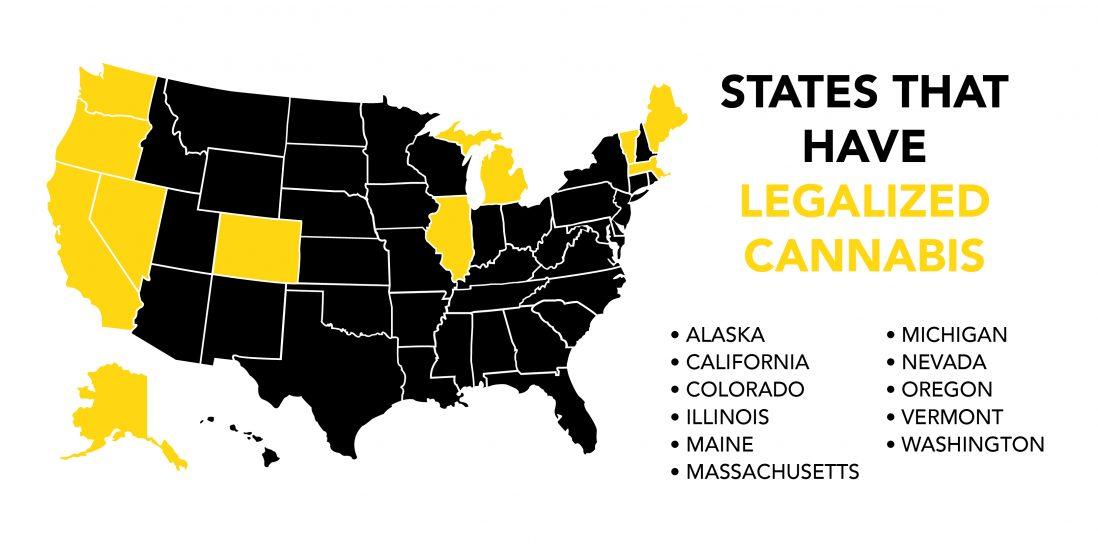 U.S. Map of Marijuana Legalization