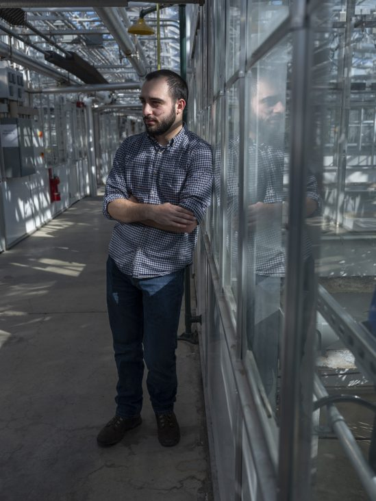 George Stack, a first-year PhD Student in Plant Breeding and Genetics at Cornell.