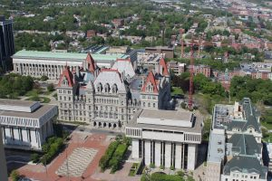 New York State Capitol. Viewed from the Corning Tower Observation Deck