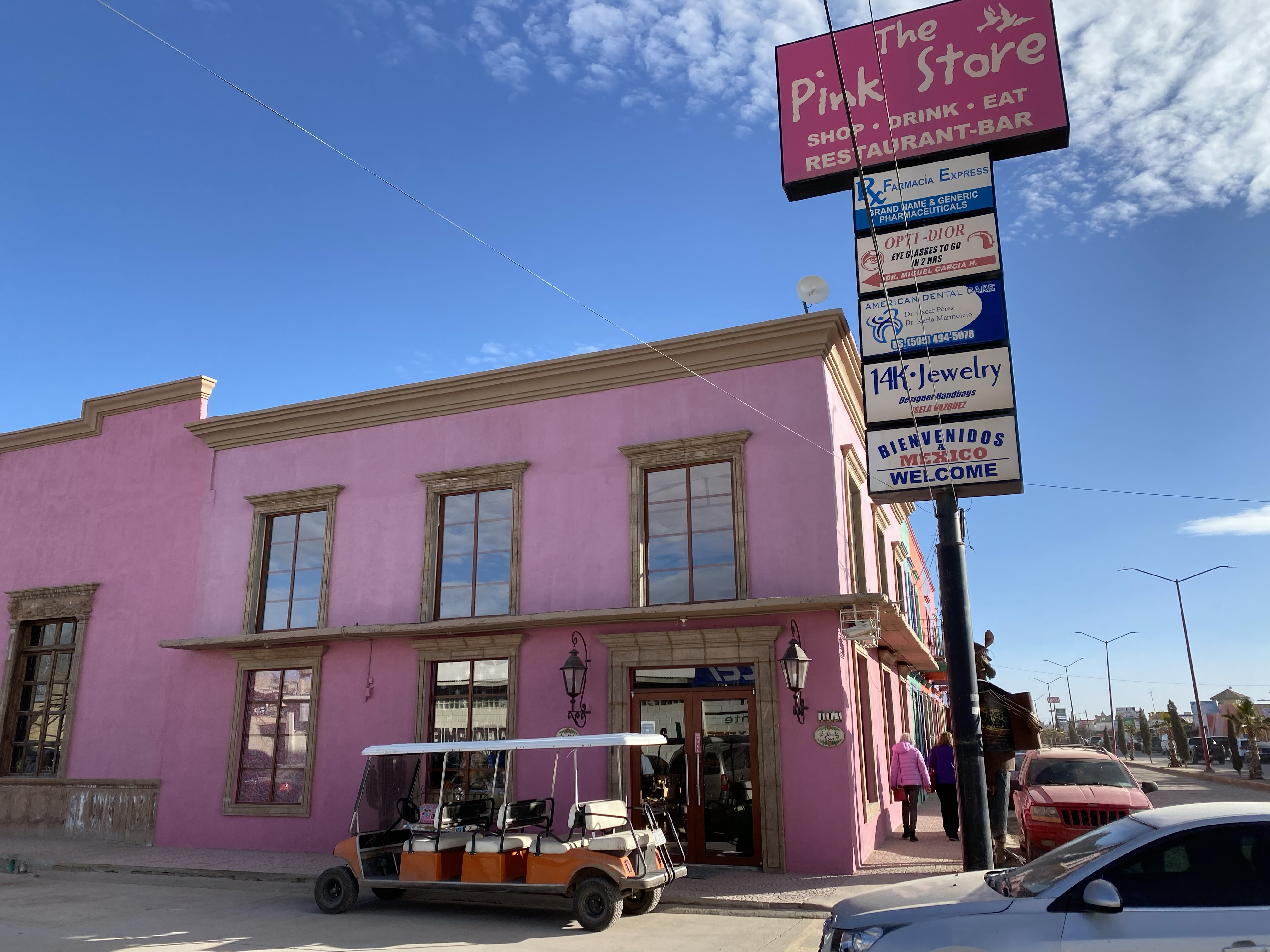 The Pink Store in Puerto Paloma serves both Mexican meals and souvenirs.