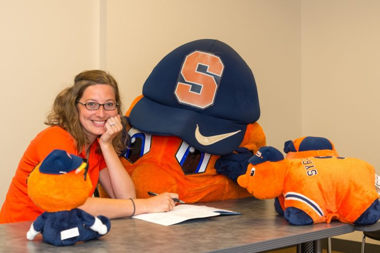 Julie Walas and Otto the Orange