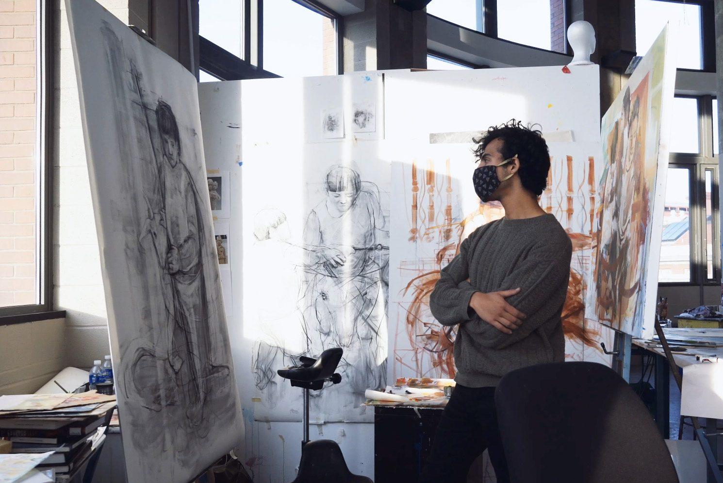 Leito Navarrete is senior at Syracuse University studying studio arts.