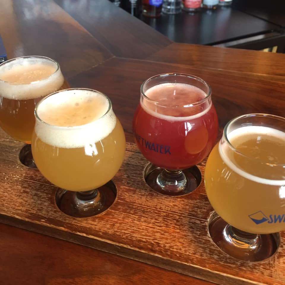 Four beer samples.