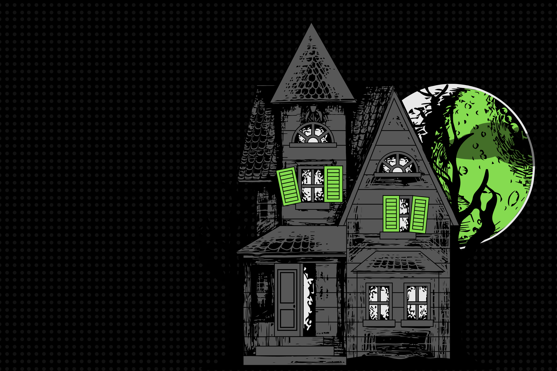 Haunted Houses illustration